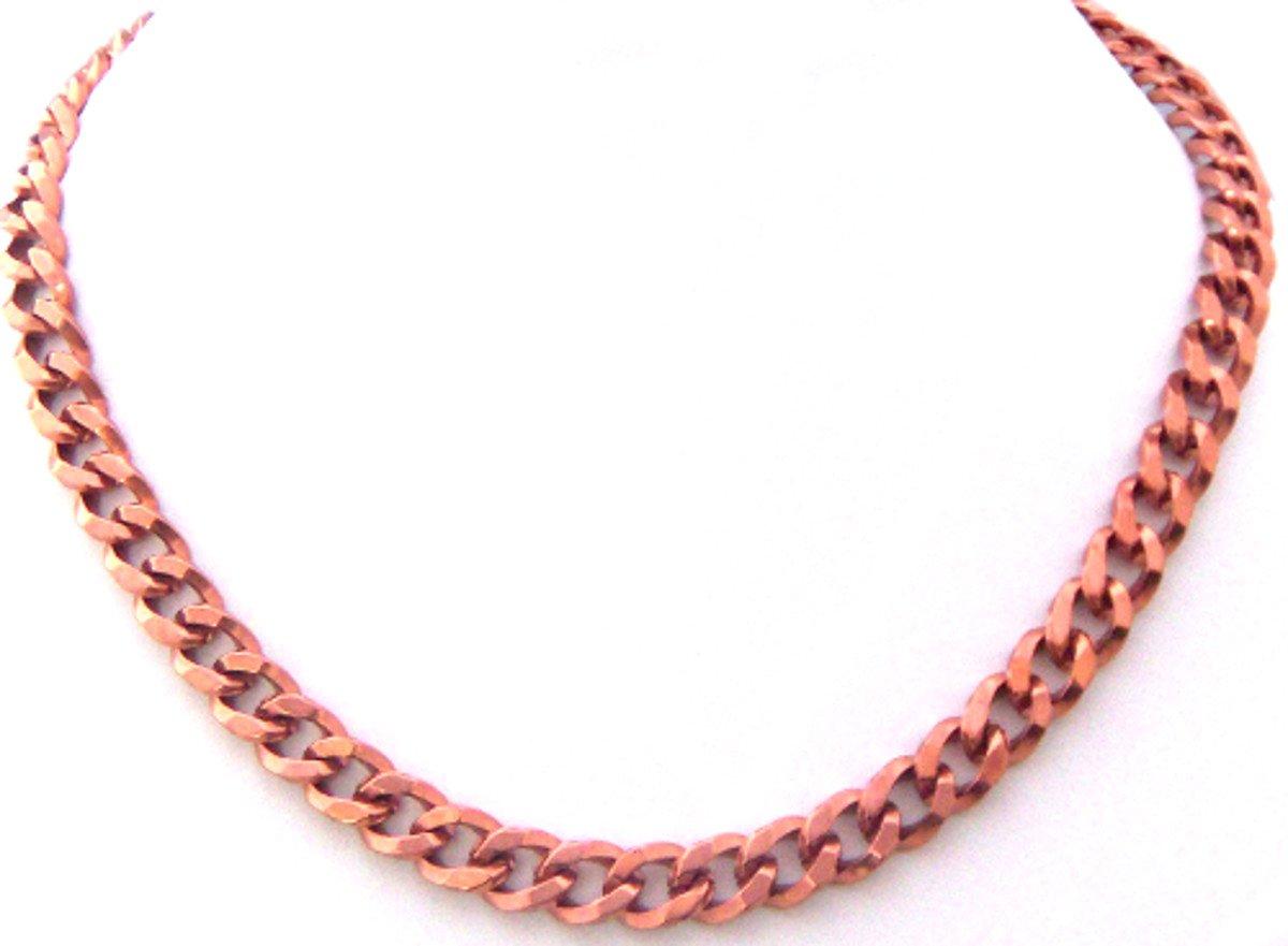 Men's Women's Link Copper Link Chain Necklace 18'' Solid Copper