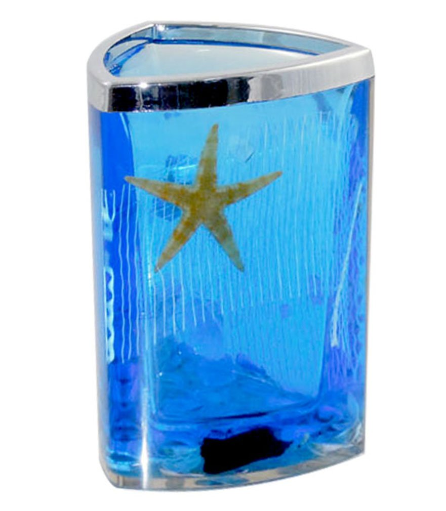 Amazon.com: Beach Seashell + Starfish Bathroom Accessories Set Tumbler/Soap  Dish/Liquid Soap Dispenser/Toothbrush Holder  Blue Oil: Home U0026 Kitchen