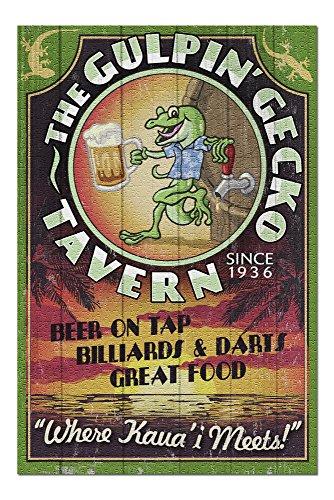 - Kauai, Hawaii - Gecko Tavern Vintage Sign (20x30 Premium 1000 Piece Jigsaw Puzzle, Made in USA!)