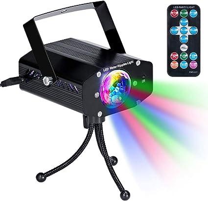 Luces Discoteca, luz LED de agua de luz Pelota 7 color dinámico ...