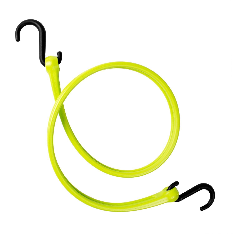 The Perfect Bungee by BihlerFlex PBNH36G Standard Duty Strap Nylon Hook, 36'', Safety Green