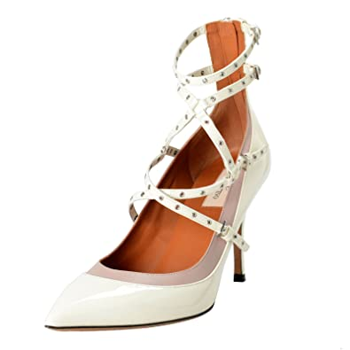 9b6f584b0 Image Unavailable. Image not available for. Color: Valentino Garavani  Women's Off White Ankle Strap Pumps Shoes ...