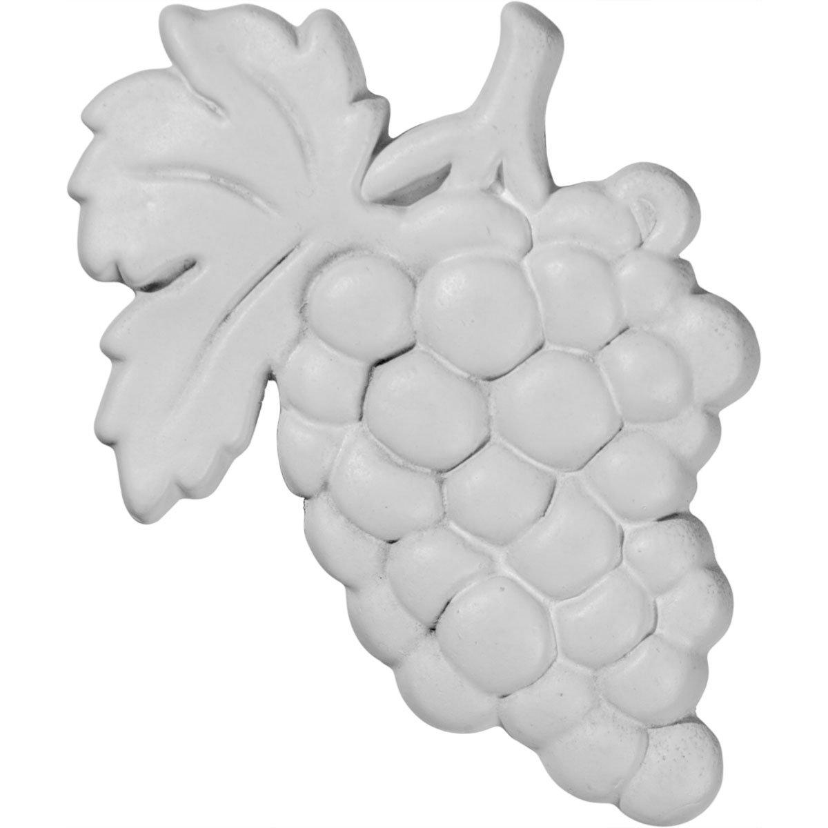 Ekena Millwork ONL02X04GR 2 3//4-Inch W X 4 1//8-Inch H Grape Center Onlay