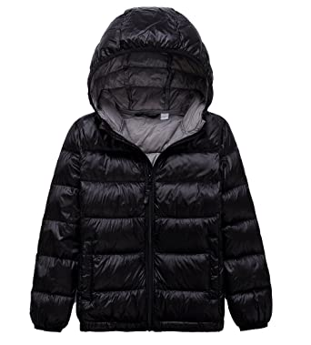 f60cfafdc Amazon.com  LANBAOSI Kid s Winter Lightweight Puffer Jacket Boy s ...