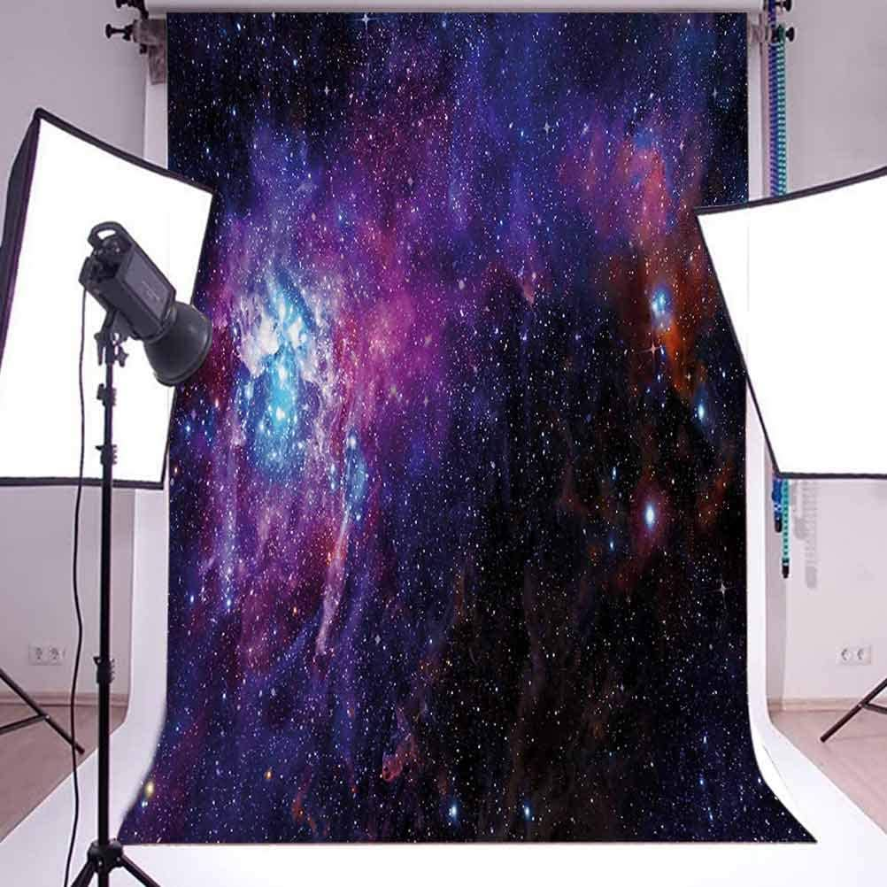 Galaxy 6.5x10 FT Photography Backdrop Starry Night Nebula Cloud Celestial Theme Image Space Art Elements Print Background for Child Baby Shower Photo Vinyl Studio Prop Photobooth Photoshoot