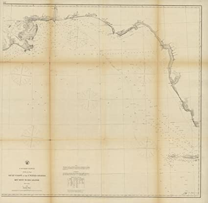Amazon.com: 1863 map Gulf coast of the United States, Key West to ...