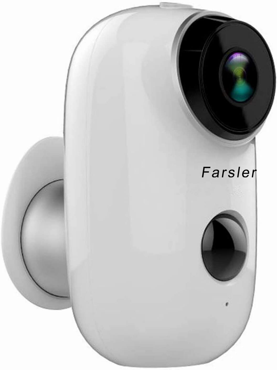 Farsler A3 Rechargeable Battery-Powered Camera Indoor Outdoor Wireless Security Camera 1080p HD Wire-Free 2-Way Audio Night Vision Alarm Alert PIR Motion Sensor w Built-in SD Slot