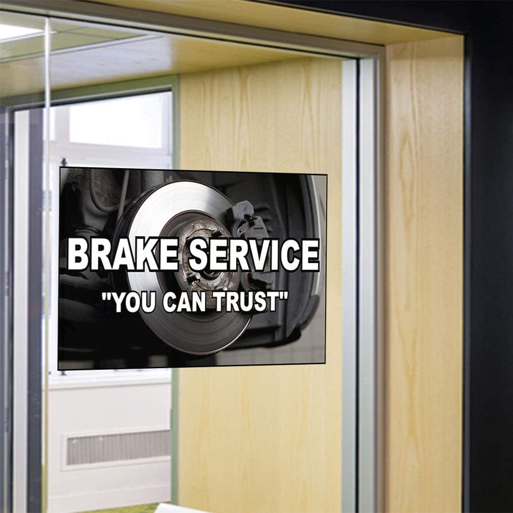 Set of 10 14inx10in Decal Sticker Multiple Sizes Brake ServiceYou Can Trust Automotive Brake Service Outdoor Store Sign Black