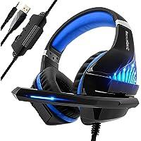 Auriculares Gaming con Micrófono para PS4 Xbox One, Viixm Cascos Gaming Stereo con luz LED & Suave Orejeras de Memoria…