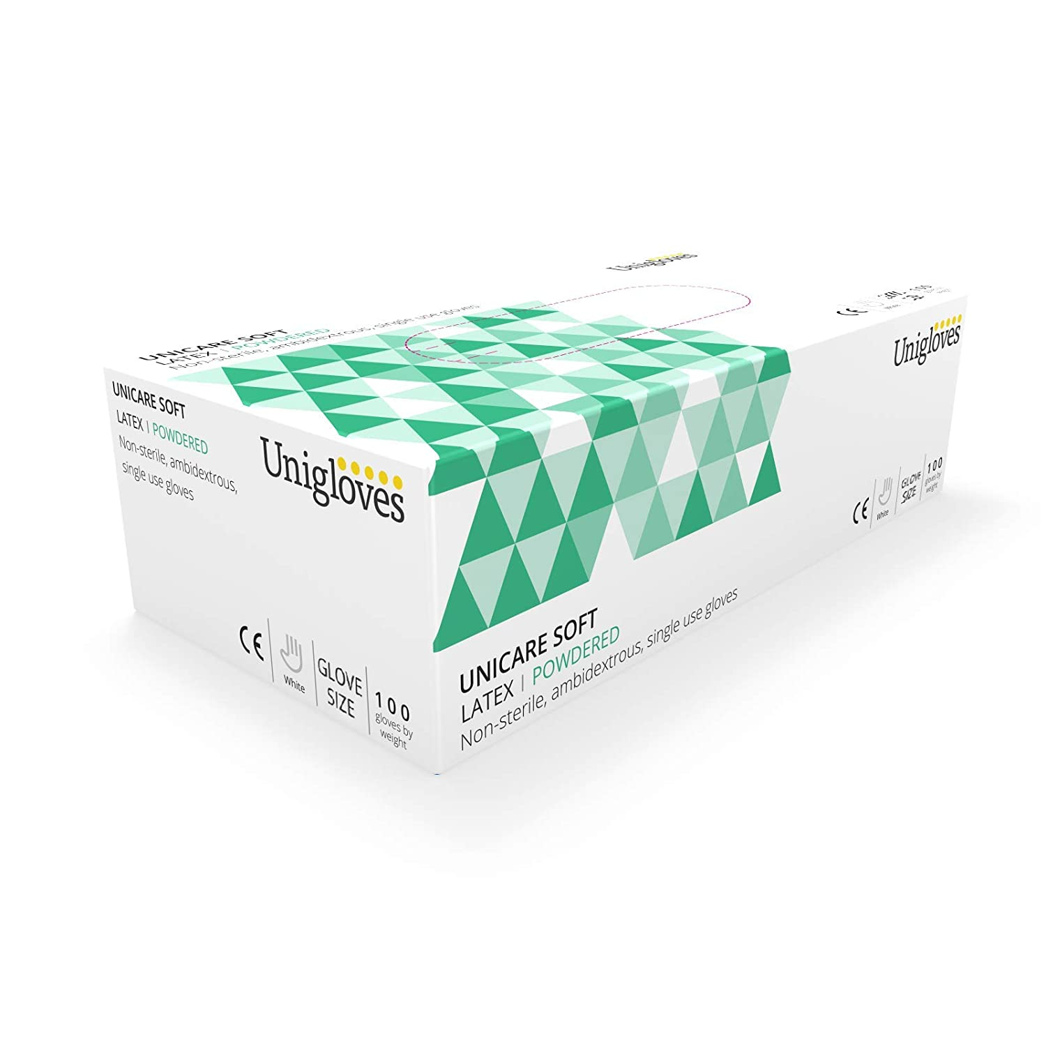 Unigloves UCL1202 Small Latex Powdered Gloves (Box of 100)