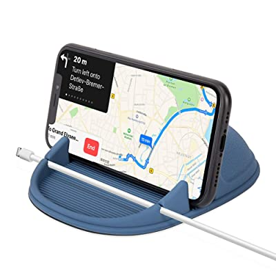 WIFORT Car Phone Holder Dashboard Non-Slip,Universal Car Mount for Mobile Phone,in Car Phone Holder Compatible with iPhone 11 pro max Xs Max XR X 8 7 SE 2020 Samsung Galaxy Note 10 Plus S9 S8 (Blue)