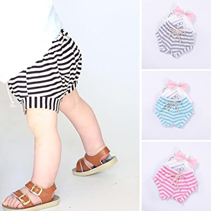 Covermason Niños Ropa Venta de liquidación Newborn Infant Baby Girls Boys Shorts a rayas Summer Bottoms