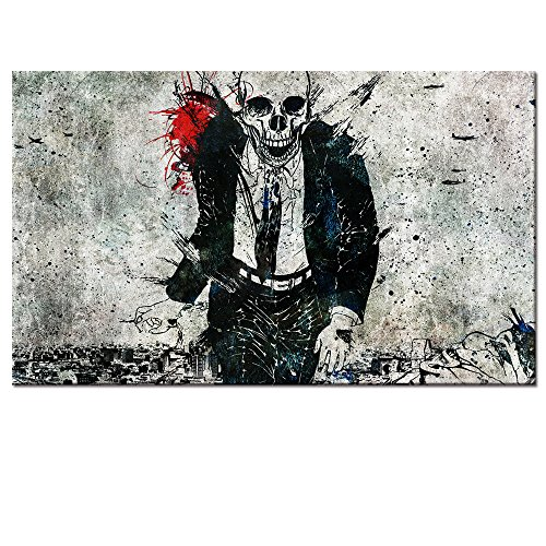Abstract Skull Wall Decal,Running Skull Canvas Prints Wall Art Decor,Skull Picture Decor,24