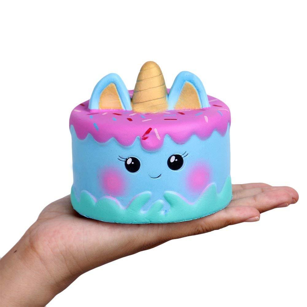 Anboor Squishies Set 2 Stucke Einhorn Tiere Torte Kuchen Emoji Gross