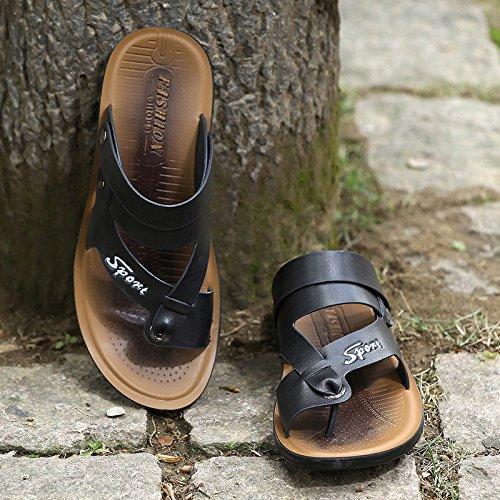 ZHANGJIA Neue Männer Sandalen, Badeschuhe, Hausschuhe, Schuhe, Koreanisch, Casual Wear, Wear, Wear, 44, Schwarz 27edd6