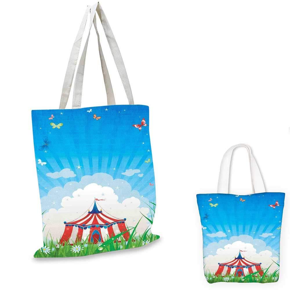 CircusCute Happy Fun トレーニングサーカスアニマル、ノスタルジックテントカーニバルパーティーショーアートレッドホワイト。 14