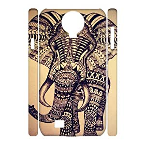 ALICASE Diy Case Elephant Aztec Tribal Cover For Samsung Galaxy S4 i9500 [Pattern-1]