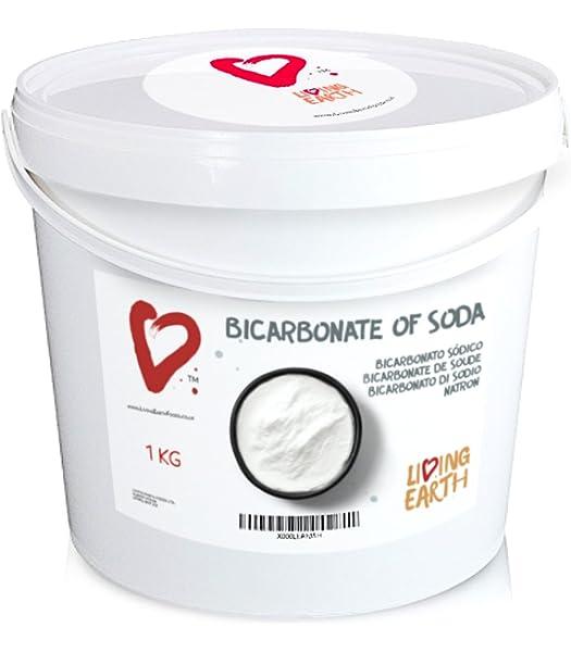 1 KG, Living Earth Bicarbonato de Sodio: Amazon.es: Hogar