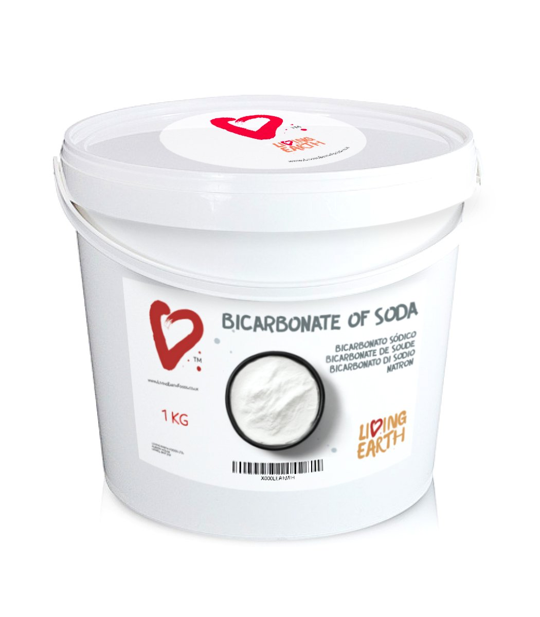 1KG Bicarbonate de soude – Living Earth – Suppose Une Alternative Excellente pour Le Nettoyage Quotidien et Soin corporel. Nettoyage ÉCOLOGIQUE, sans SUBSTANCES Toxiques ET ÉCONOMIQUE.