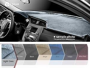 Fedar For 2000-2005 Chrysler PT Cruiser Dashboard Cover Mat Pad-Light Grey-Light Grey