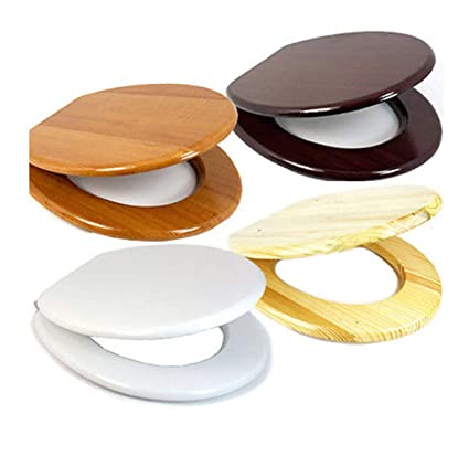 WHITE BLACK TONGUE /& GROOVE WOODEN MDF BATHROOM TOILET SEAT WITH ZINC FITTINGS
