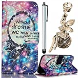 Galaxy S3 Case,Vandot 3in1 Set Premium Exclusive PU Leather Magnetic Closure Flip Stand Wallet Card Slot Protective Cover Case Perfect Fit For Samsung Galaxy S3 I9300-Star Dreamcatcher+Angel Anti Dust Plug+Stylus Screen Touch Pen