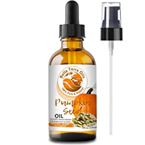NEW Pumpkin Seed Oil. 4oz. Cold-pressed. Unrefined. Organic. 100% Pure. Anti-aging. Hexane-free. Fights Wrinkles. Softens Hair. Natural Moisturizer. For Hair, Face, Body, Nails, Beard, Stretch Marks.