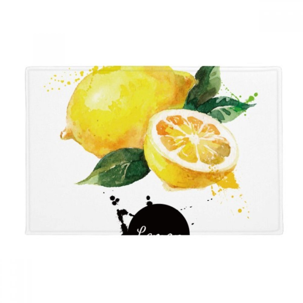 Lemon Watercolor Anti-slip Floor Mat Carpet Bathroom Living Room Kitchen Door