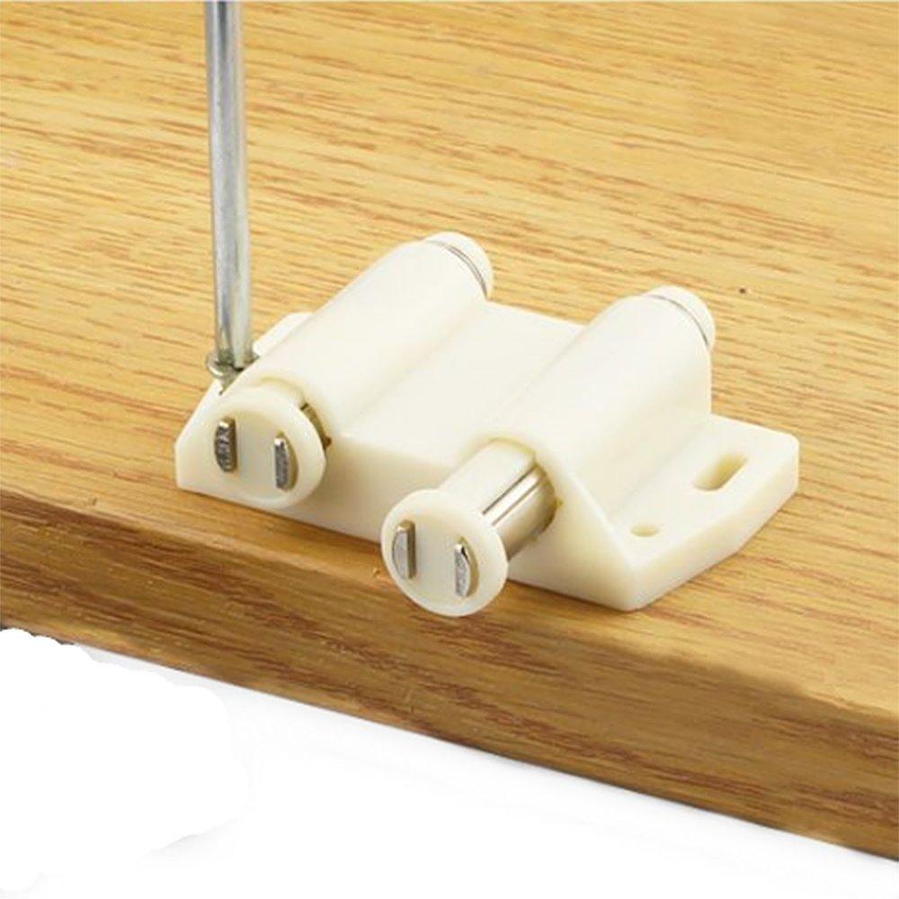 YUOIP/® Doppel Magnetverschluss Magnetische T/ürschnapper zum /Öffnen//Schlie/ßen der T/ür mit einem Tastendruck 4 St/ück schwarz