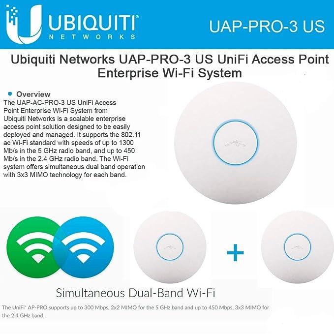 Ubiquiti Unifi AP-Pro 3-Pack (UAP-Pro-3 US) 802 11n PRO Access Point