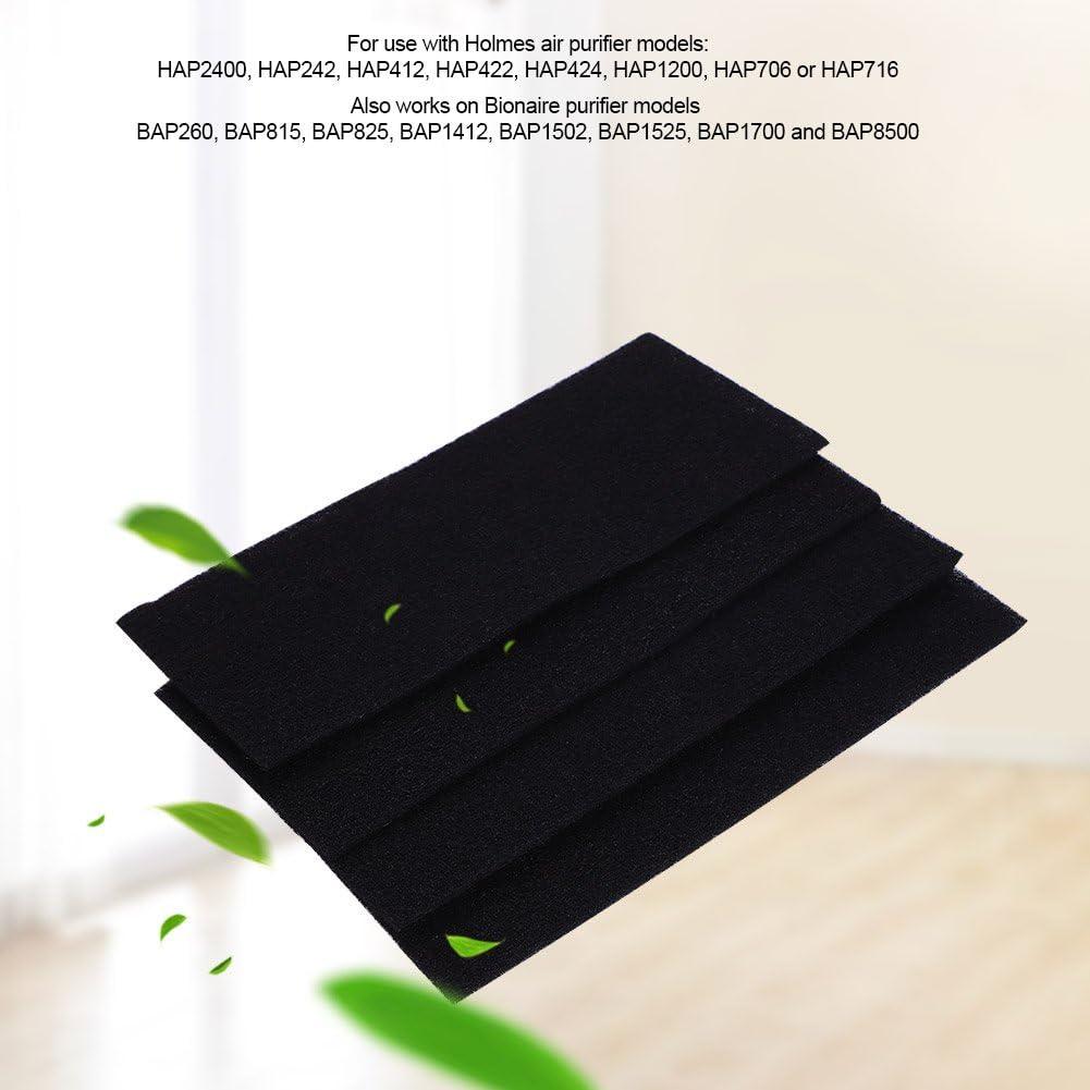 Ymiko 4 filtros de Esponja de Carbono para purificador de Aire Holmes y Bionaire