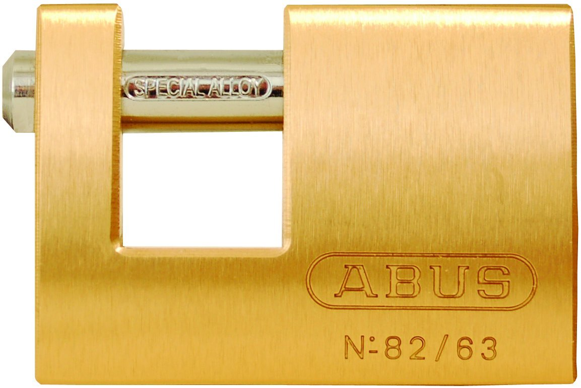 ABUS 82/63 Monoblock Solid Brass Padlock Keyed Different
