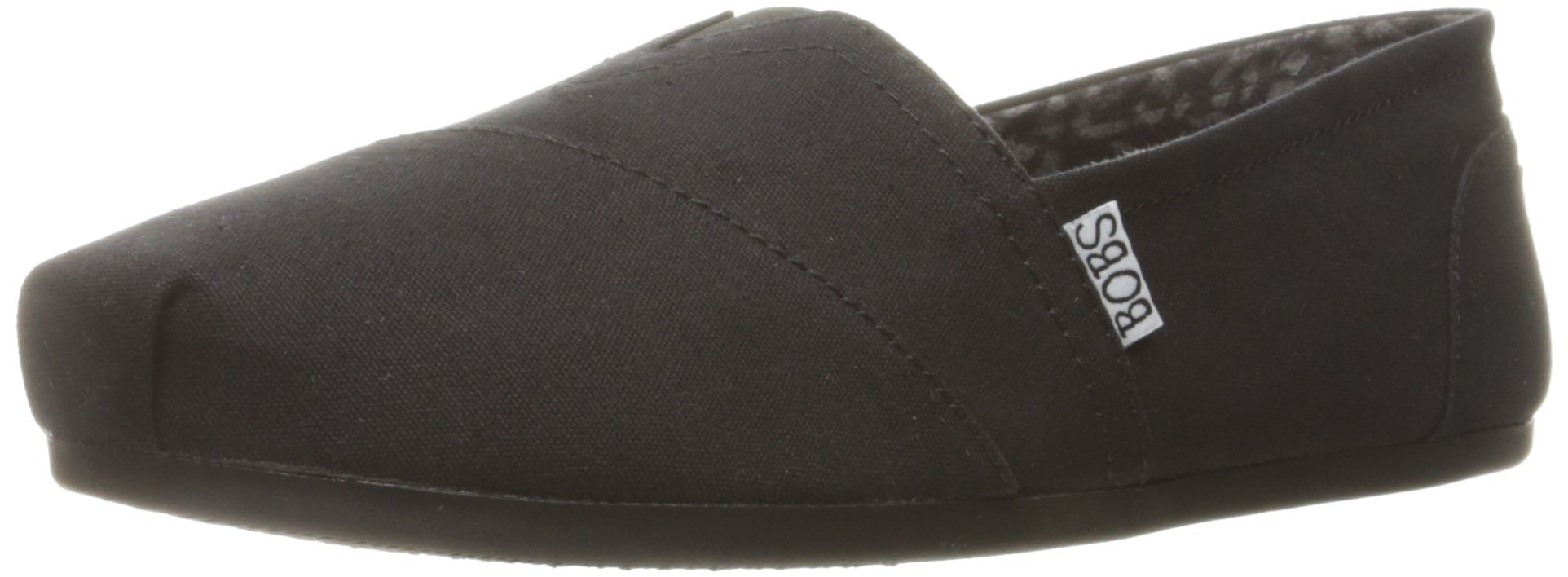 BOBS from Skechers Women's Plush - Peace and Love Flat, Black, 9 W US