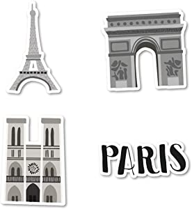 Paris Love Sticker Pack Paris Stickers - 4 Pack - Sticker Vinyl Decal - Laptop, Phone, Tablet Vinyl Decal Sticker (4 Pack) S183151