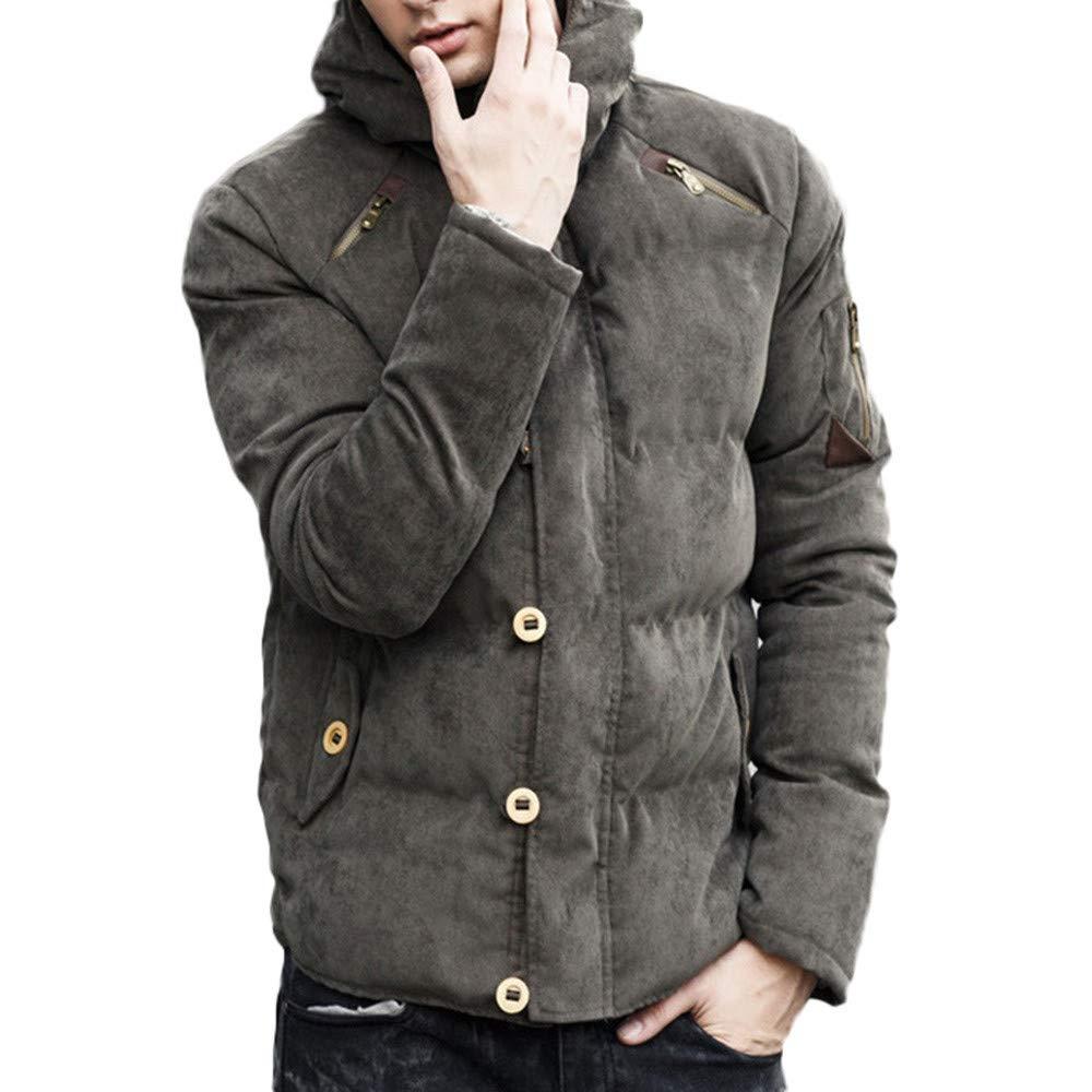 Pandaie レディース ジップアップスウェットシャツ フードなし メンズ 秋冬 ピュアカラー ポケット ジッパー フード付き ジャケットキャップ トップコート B07JNQX2KY アーミーグリーン XXX-Large