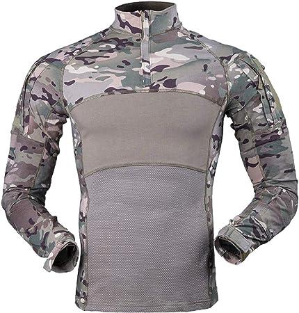 Camiseta táctica militar para hombre, de manga larga, con ...