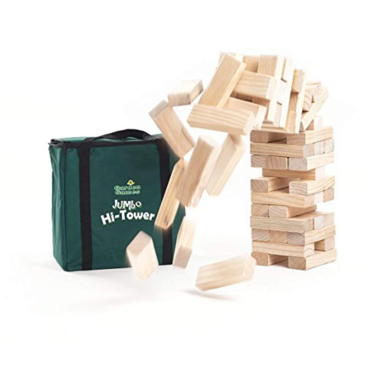 Jumbo Hi-Tower | Tumbling Tower Game | 60'' | with Carry/Storage Bag