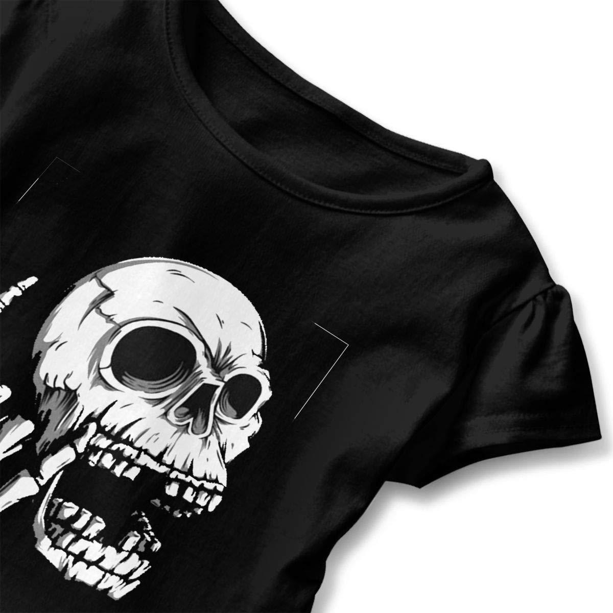 lu fangfangc Rock Skulls T-Shirt Toddler Girls Flounced T Shirts Cartoon Outfits for 2-6T Kids Girls