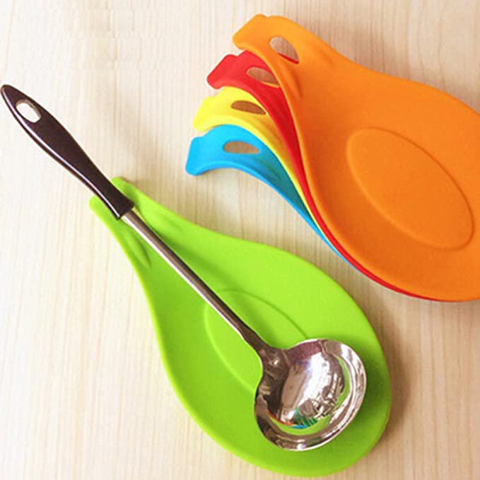 GOTTING Cuchara de silicona multiusos Cuchara de descanso Cuchara de gel de s/ílice de grado alimenticio