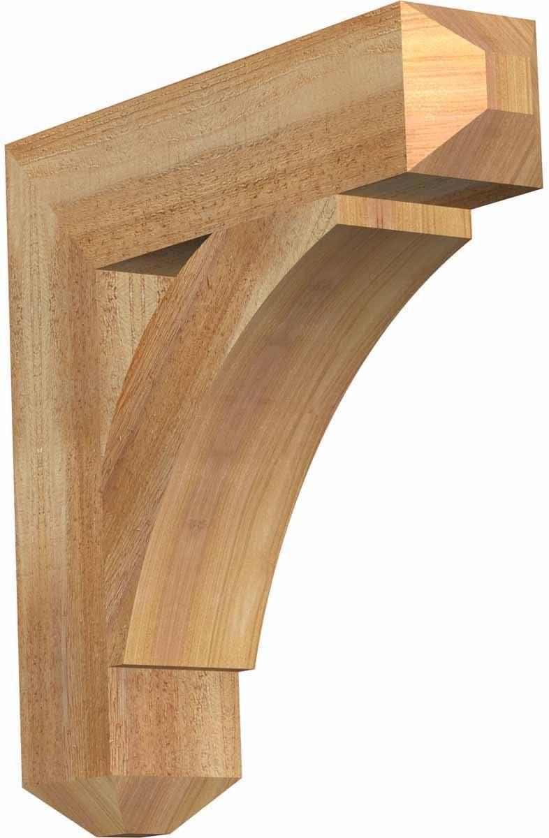 Amazon Com Ekena Millwork Bkt04x18x18thr04rwr Thorton Craftsman Rough Sawn Bracket 4 Width X 18 Depth X 18 Height Western Red Cedar Home Improvement