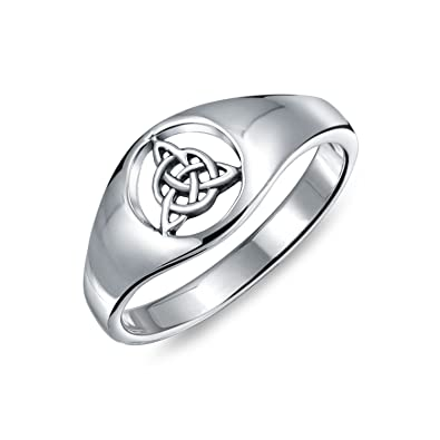 b798aac5b0da2 Friendship Viking Celtic Trinity Knot Triquetra Ring Signet Ring For Women  For Men 925 Sterling Silver