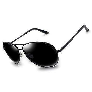 cdb92ea59 Polarized sunglasses for men women,reflective Mirrored Aviator Outdoor  sports sunglasses UV400 (black)