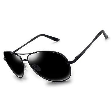 TZQ Vêtements Hommes Mode Lunettes De Soleil Polarisées,Black