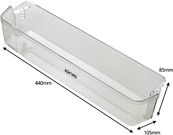 Width 437mm SPARES2GO Bottom Lower Door Bottle Shelf for IKEA ARL758A1 Fridge Freezer
