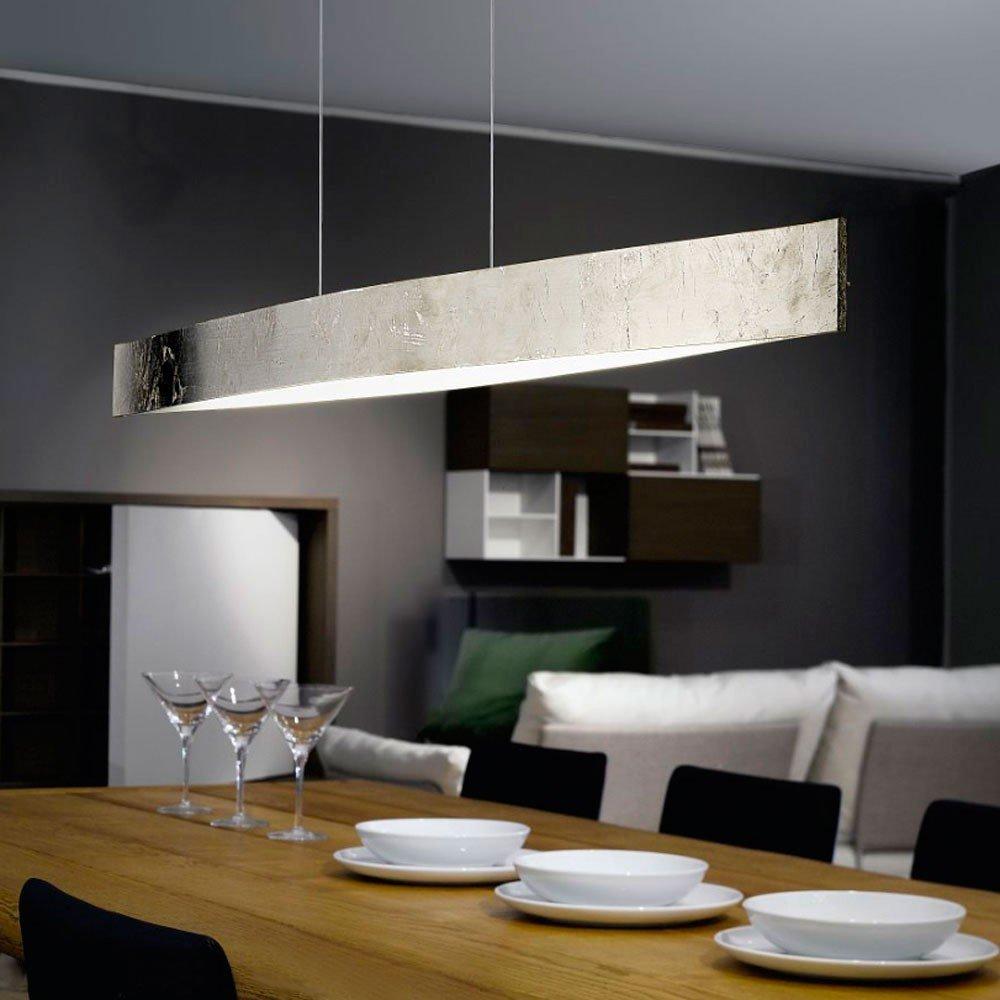 LICHT-TREND LED-Pendellampe   4 x 6 Watt   1060 Lumen   97cm   Blattsilber