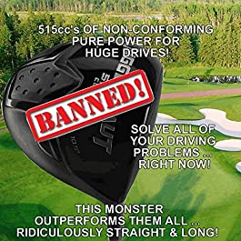 Illegal Oversize Power Play Golf Juggernaut Titanium 515cc Nonconforming Custom Driver