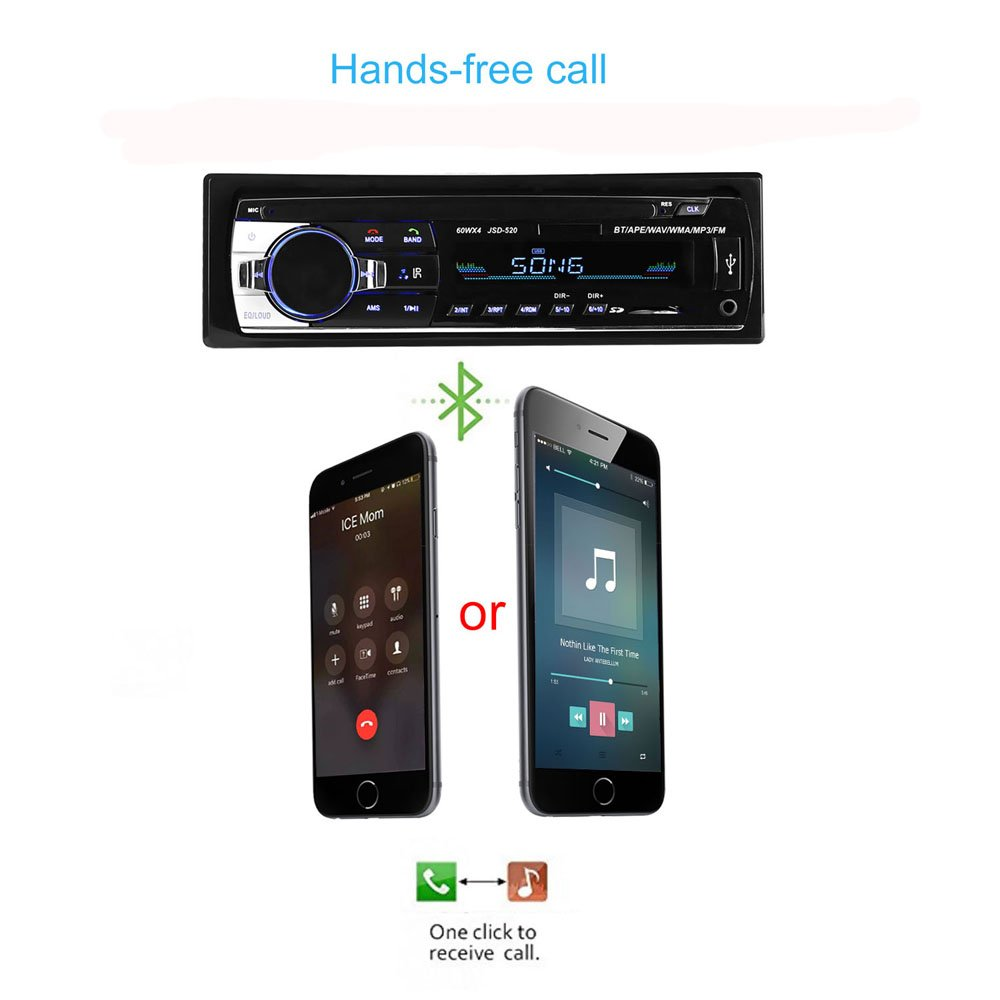 Bestree Bluetooth Audio Receiver Mp3 Player Fm Radio1 Box Modul Mp5 Plus Aksesories Din In Dash Usb Sd Aux Car Electronics With Remote Control Stereo