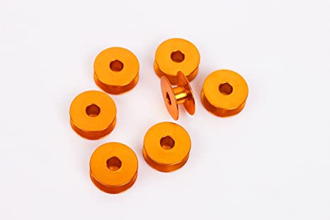 honeysew 10 bobinas de aluminio Industrial individual aguja Máquinas de Coser # 272152 Golden
