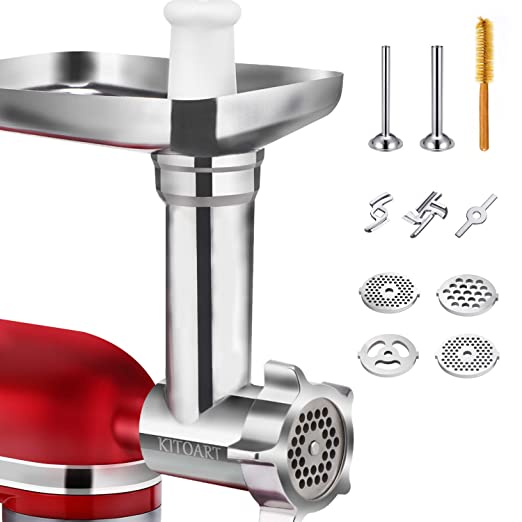 Metal Food Grinder Attachments for KitchenAid Stand Mixers, Durable Meat  Grinder, Sausage Stuffer Attachment Compatible with All KitchenAid Stand ...
