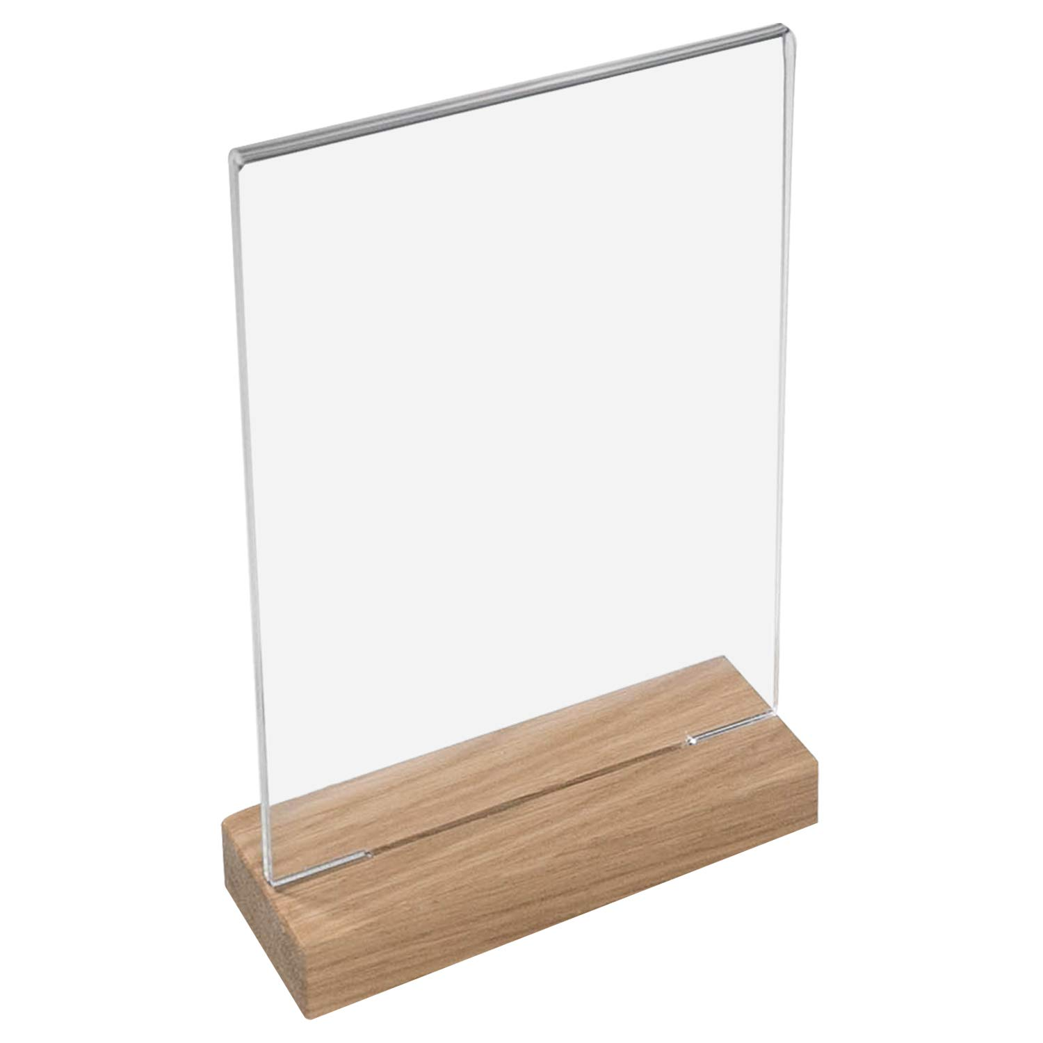 HMF 4694900 Table Stand Wooden Base Acrylic Menu Card Holder Choice of Sizes